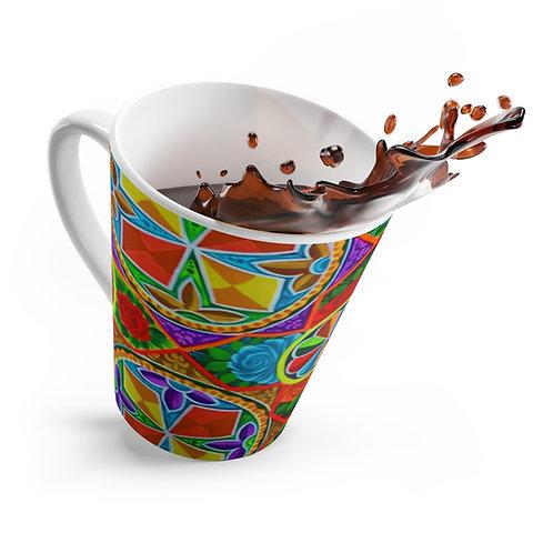 Orange Propeller - Latte mug