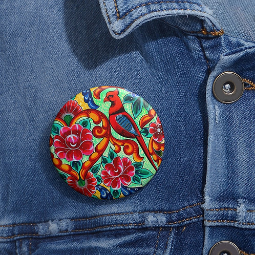 Red Birds - Pin Buttons