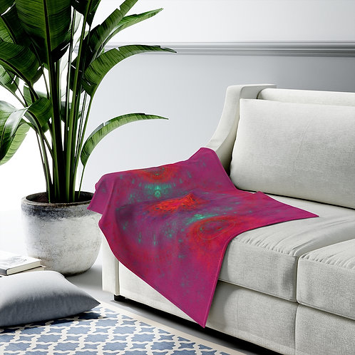 Joiku - Fractal Design Velveteen Plush Blanket