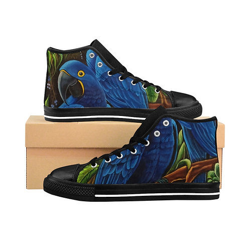 Blue Macaw - Men's High-top Sneakers