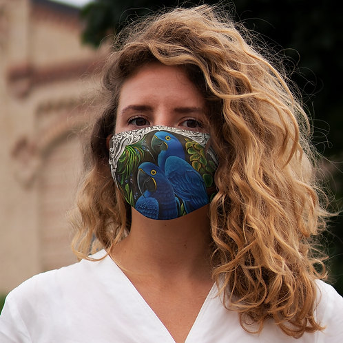 Blue Macaw - Snug-Fit Polyester Face Mask