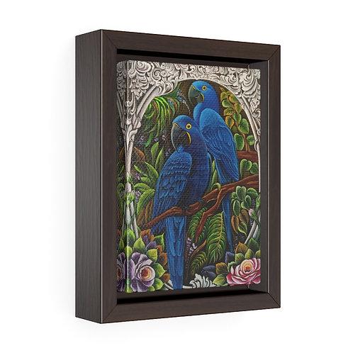 Blue Macaw - Framed Premium Gallery Wrap Canvas