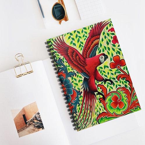 Parrots - Spiral Notebook - Ruled Line