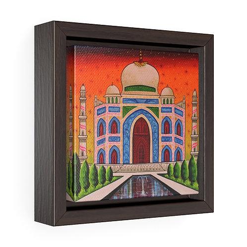 Taj Mahal Square Framed Premium Gallery Wrap Canvas