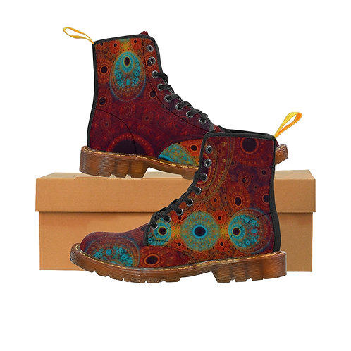 Bear Women's Canvas Boots, Brown Soles