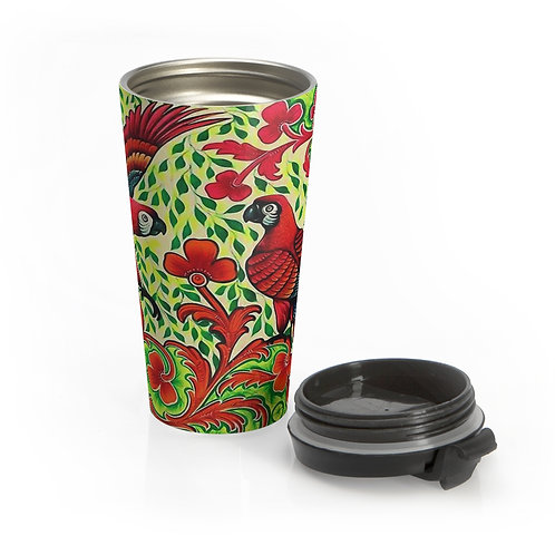 Parrots - Stainless Steel Travel Mug