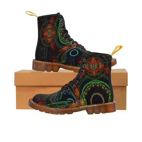 Taiga Women's Canvas Boots, Brown Soles