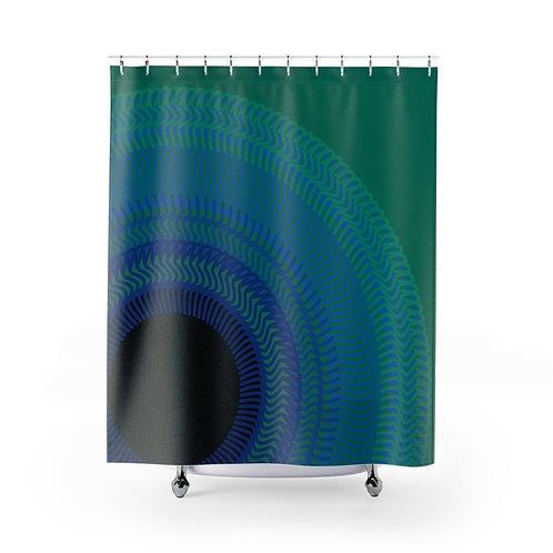 Blue Moon - Shower Curtains