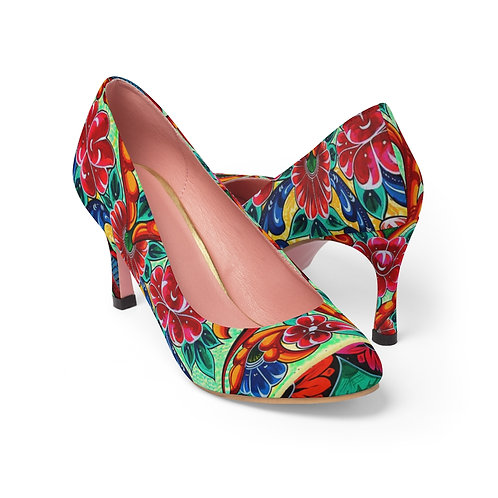Red Birds - Women's High Heels