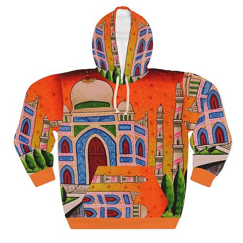 Taj Mahal - AOP Unisex Pullover Hoodie