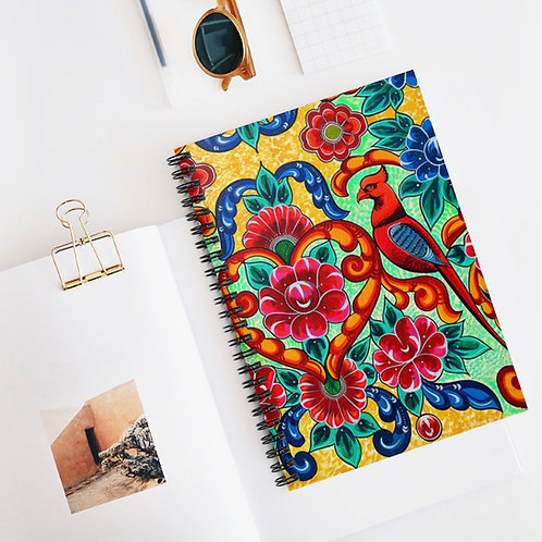 Red Birds - Spiral Notebook - Ruled Line