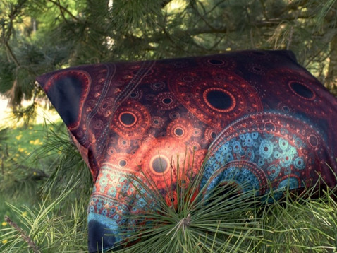 'Bear' pillow in the nature
