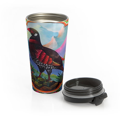 Black Partridge - Stainless Steel Travel Mug