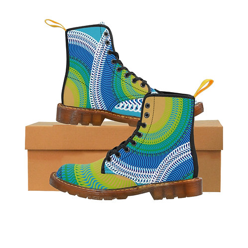 Planet Earth - Women's Canvas Boots