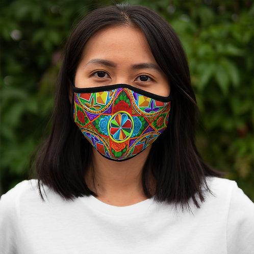 Orange Propeller - Fitted Polyester Face Mask
