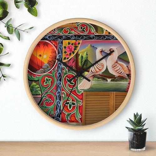 Lovey Doves - Wall clock