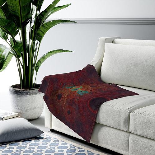 Bear - Fractal Design Velveteen Plush Blanket