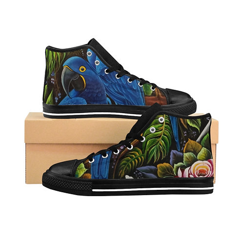 Blue Macaw - Women's High-top Sneakers