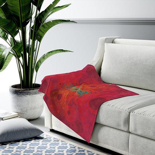 Rainbow - Fractal Design Velveteen Plush Blanket