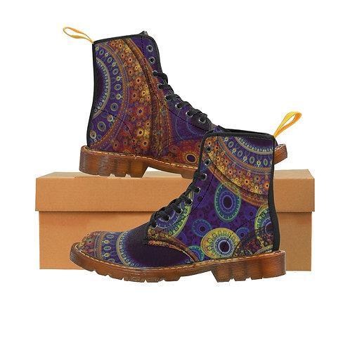 Aurora Women's Canvas Boots, Brown Soles