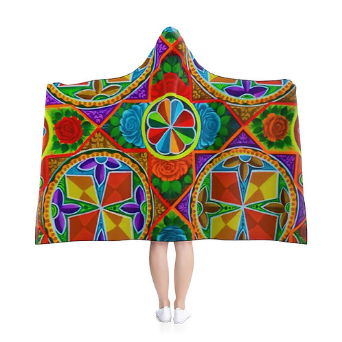 Orange Propeller - Hooded Blanket