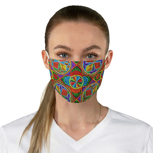 Orange Propeller - Fabric Face Mask