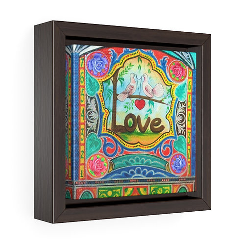 Love - Square Framed Premium Gallery Wrap Canvas