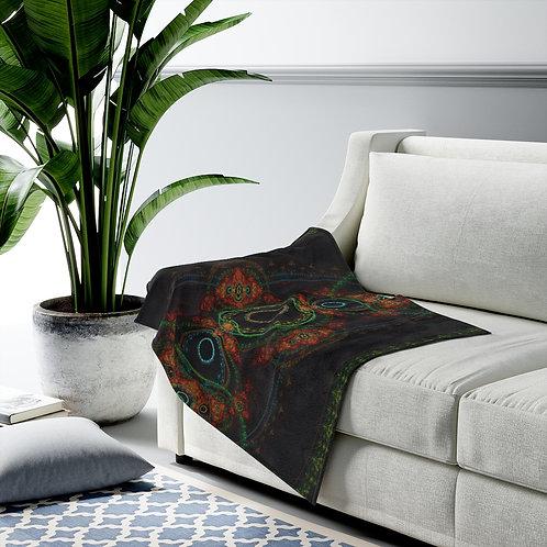 Taiga - Fractal Design Velveteen Plush Blanket
