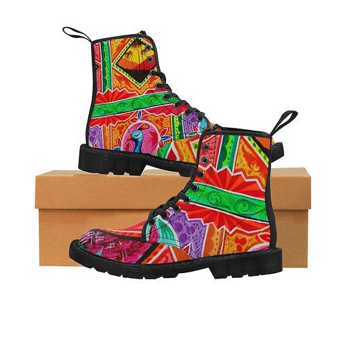 Sunset - Women's Canvas Boots