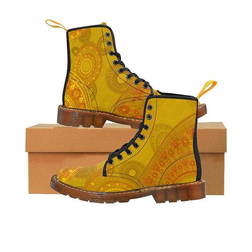 Dandelion Women's Canvas Boots, Brown Soles