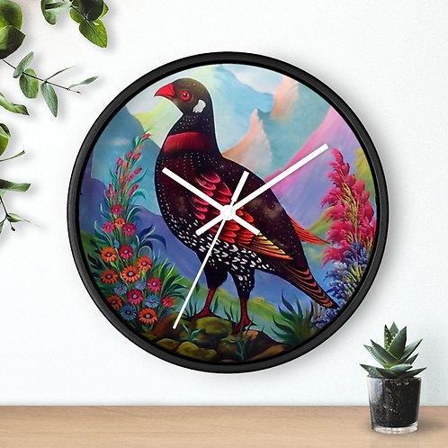 Black Partridge - Wall clock