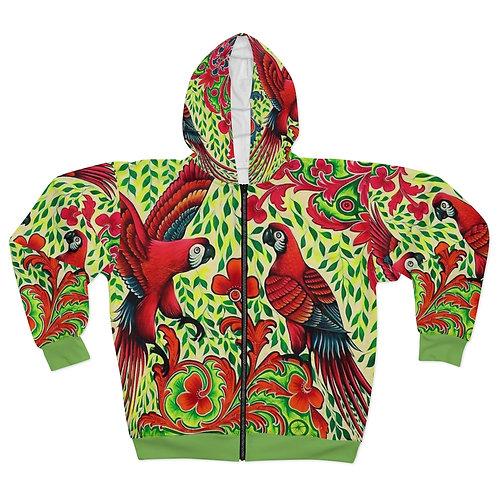 Parrots - AOP Unisex Zip Hoodie