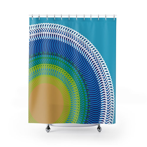 Planet Earth - Shower Curtains