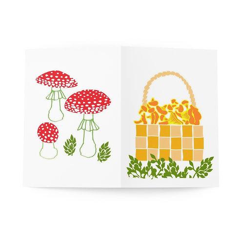 Mushroom Basket - Greeting Cards (8 pcs)