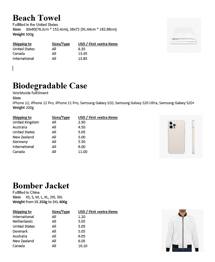Beach towel - Bomber jacket  Product Shipping info and prices