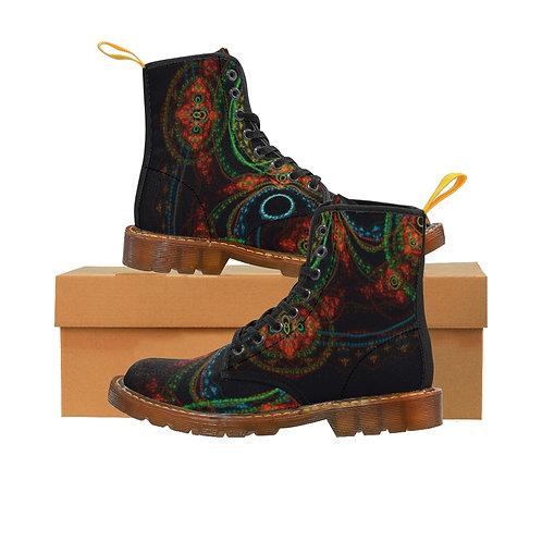 Taiga Men's Canvas Boots, Brown Sole