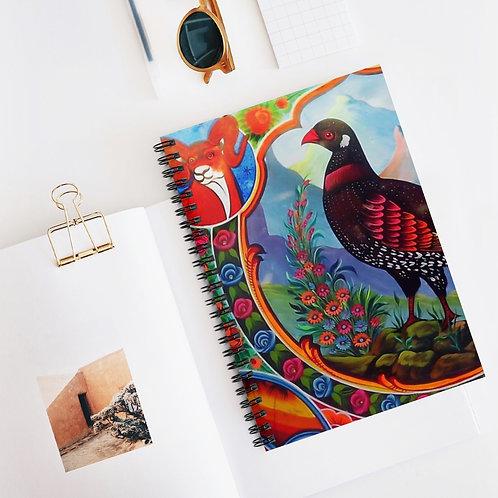 Black Partridge - Spiral Notebook - Ruled Line
