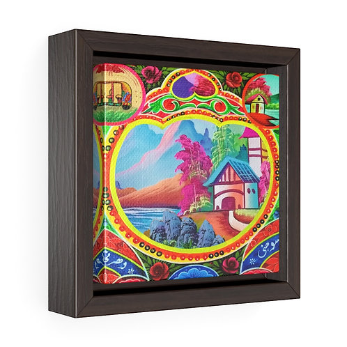 Sweet Home - Square Framed Premium Gallery Wrap Canvas
