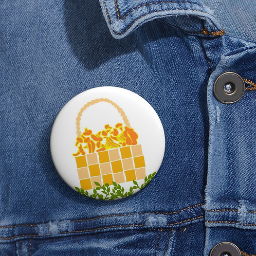 Mushroom Basket - Pin Buttons