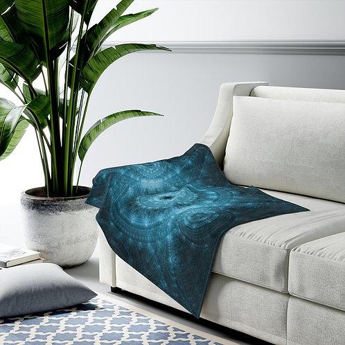 Pond - Fractal Design Velveteen Plush Blanket