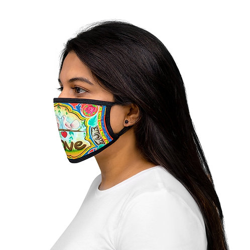 Love - Mixed-Fabric Face Mask
