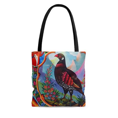 Black Partridge - AOP Tote Bag