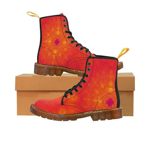 Sun Men's Canvas Boots, Brown Sole