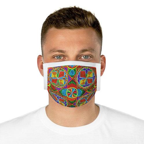 Orange Propeller - Cotton Face Mask