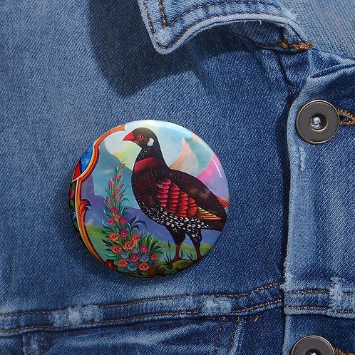 Black Partridge - Pin Buttons