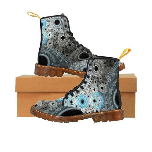 Cliff Women's Canvas Boots, Brown Soles
