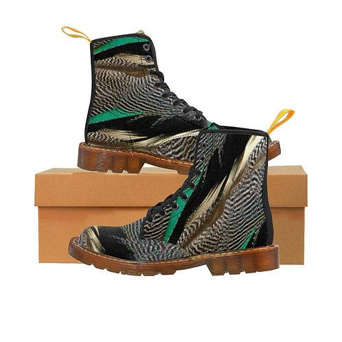 Tavi Women's Canvas Boots, Brown Soles