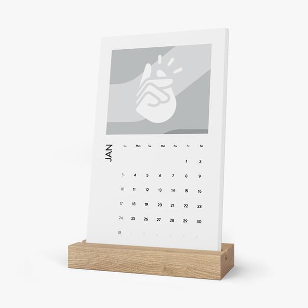 Vertical Desk Calendar