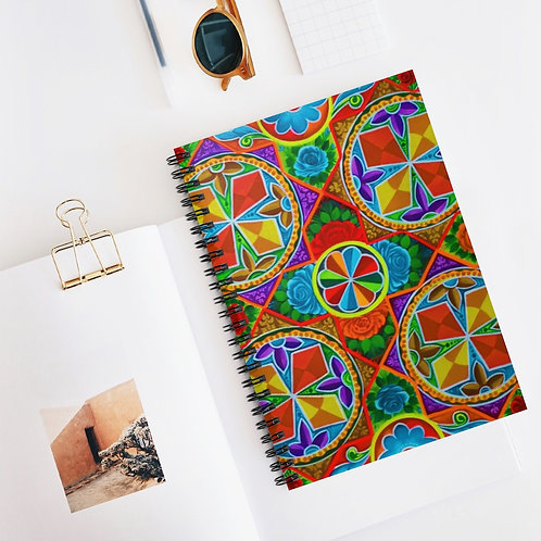 Orange Propeller - Spiral Notebook - Ruled Line