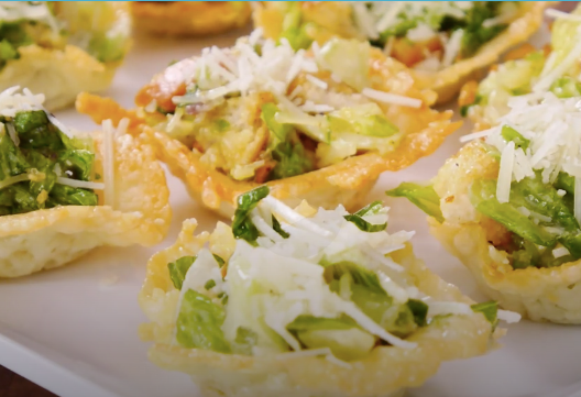 HOW TO MAKE: CEASAR SALAD PARMESAN CUPS